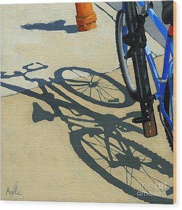 Old Blue Wood Print by Linda Apple