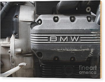 Old Bmw Motorcycle Engine . 7d13654 Wood Print by Wingsdomain Art and Photography
