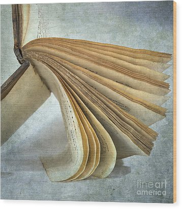Old Book Wood Print by Bernard Jaubert