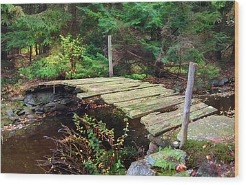 Wood Print featuring the photograph Old Bridge by Francesa Miller
