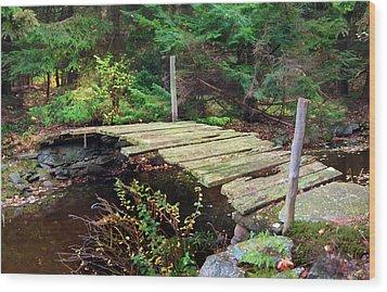 Old Bridge Wood Print by Francesa Miller