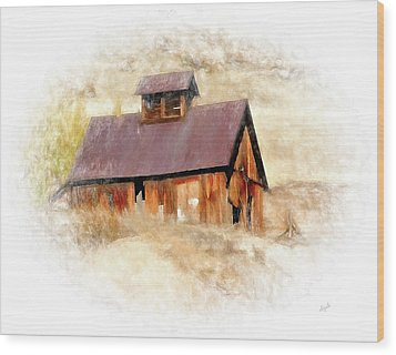 Old Building Wood Print by Elijah Knight