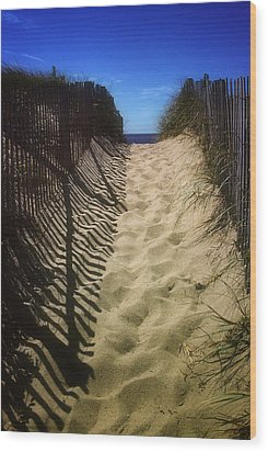 Old Cape Cod Wood Print by Carol Kinkead