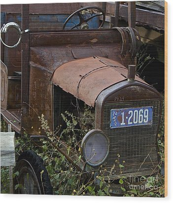 Old Car Wood Print by Anthony Jones