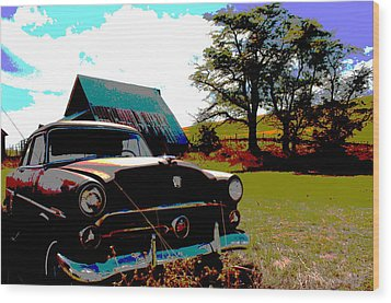 Old Car Wood Print by Jean Evans