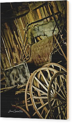 Wood Print featuring the photograph Old Carriage by Joann Copeland-Paul