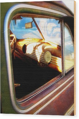 Wood Print featuring the photograph Old Chevrolet Dashboard by Glenn McCarthy Art and Photography