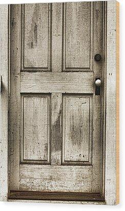 Old Church Door Wood Print by Bonnie Bruno
