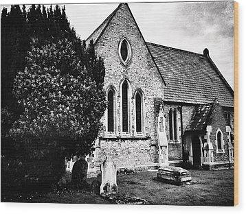 Old Church Wood Print by Andrew Hunter