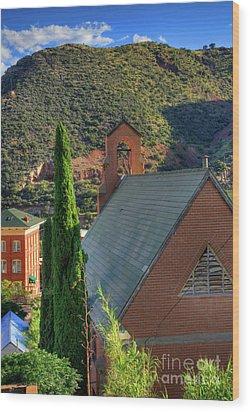 Old Church In Bisbee Wood Print