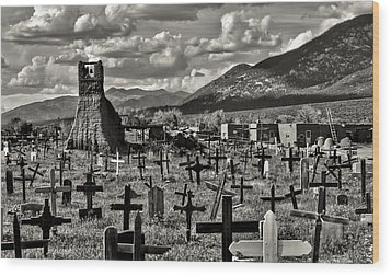 Old Church Taos Pueblo Wood Print