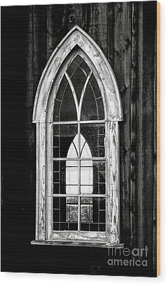 Wood Print featuring the photograph Old Church Window by Brad Allen Fine Art