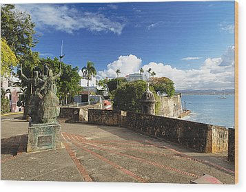 Old City In The Caribbean Wood Print by George Oze