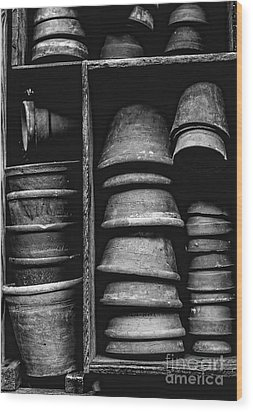 Wood Print featuring the photograph Old Clay Pots by Edward Fielding