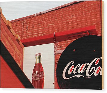 Old Coke Wood Print