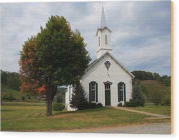 Old Concord Church Wood Print