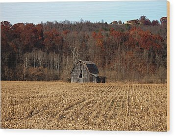 Old Country Barn In Autumn #1 Wood Print