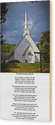 Old Country Church Wood Print by John Haldane