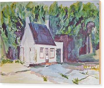 Former Old Country Gas Station Wood Print