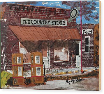Old Country Store Wood Print