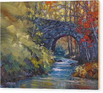 Old County Farm Bridge Wood Print