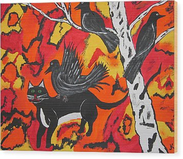 Old Crow Rodeo Wood Print by Jeffrey Koss