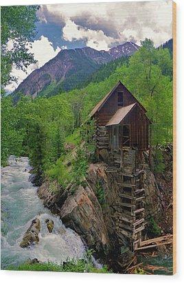 Old Crystal Mill Wood Print by Matt Helm