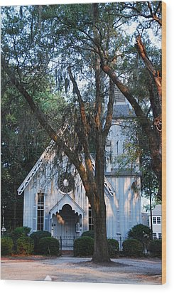 Wood Print featuring the photograph Old Cypress Church by Margaret Palmer