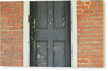 Wood Print featuring the photograph Old Door by Zawhaus Photography