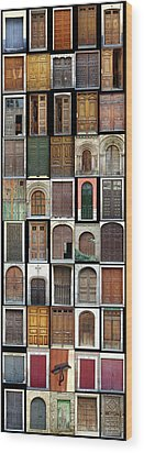 Wood Print featuring the photograph Old Doors by Frank Tschakert