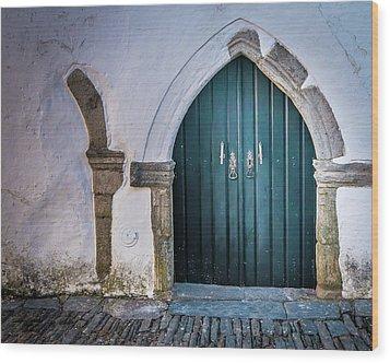 Old Doorway In Monsaraz Wood Print