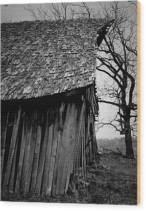 Old Farm 11 Wood Print by Dennis Sullivan