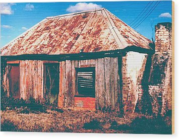 Wood Print featuring the photograph Old Farm House by Gary Wonning