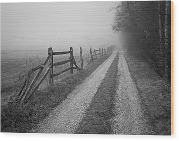 Old Farm Road Wood Print by David Gordon