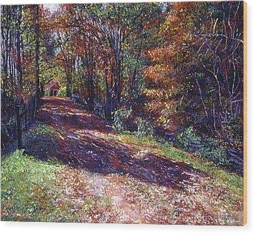 Old Farmhouse Road Wood Print by David Lloyd Glover