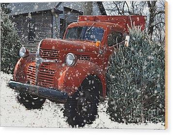 Old Fashion Country Christmas  Wood Print
