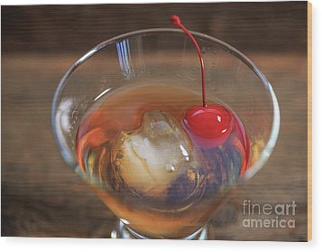 Wood Print featuring the photograph Old Fashioned Cocktail by Edward Fielding