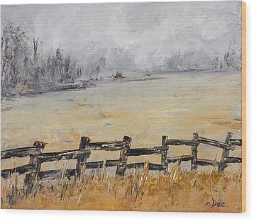 Old Fence Row Wood Print by Carolyn Doe