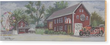 Old Firehouse Winery  Wood Print by Terri  Meyer