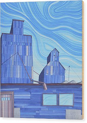 Wood Print featuring the painting Old Flat Top by Scott Kirby