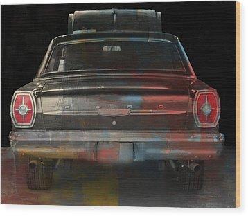 Old Ford Color Splash Wood Print