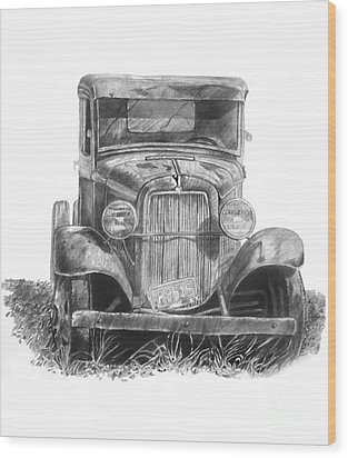 Old Ford Truck Wood Print