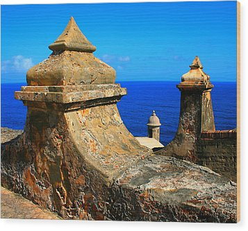 Old Fort Puerto Rico Wood Print by Perry Webster