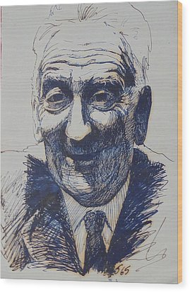 Wood Print featuring the drawing Old Fred. by Mike Jeffries