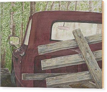 Old Friend Wood Print by Rosie Phillips