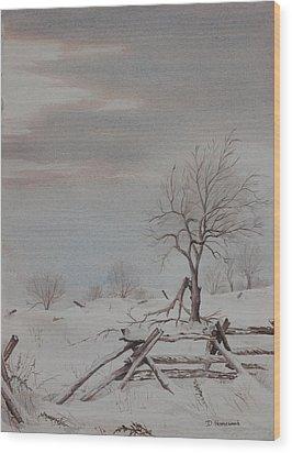 Old Friends  Wood Print by Debbie Homewood