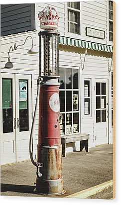 Wood Print featuring the photograph Old Fuel Pump by Alexey Stiop