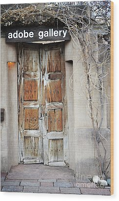 Wood Print featuring the photograph Old Gallery Door by Andrea Hazel Ihlefeld