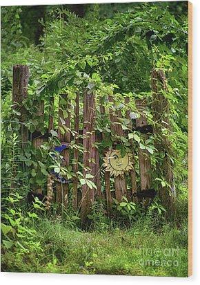 Old Garden Gate Wood Print by Mark Miller