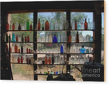 Old Glass Wood Print by David Lee Thompson